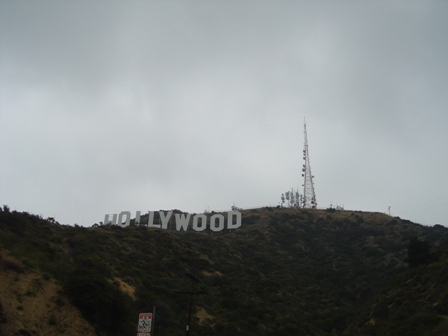 view from below the hollywood sign near  beachwood drive
