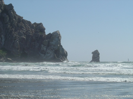morro rock, morro bay, pacific ocean