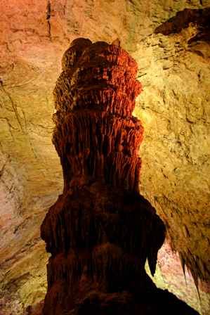 Stalagmite at the Top of the Cross, Carlsbad Caverns